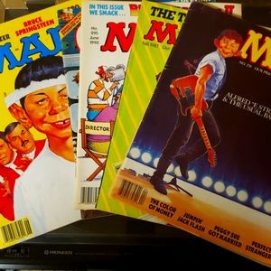 1987-1990 Mad and Cracked Magazines